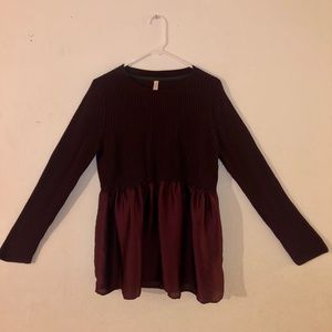 Xhilaration Women's XL Burgundy Sweater Skirt